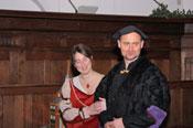 Mencia de Mendoza met haar man Hendrik III van Nassau